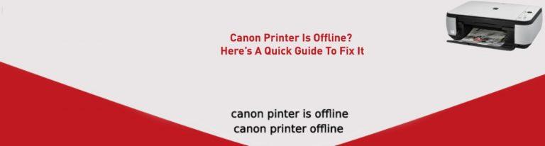 Canon Printer Is Offline