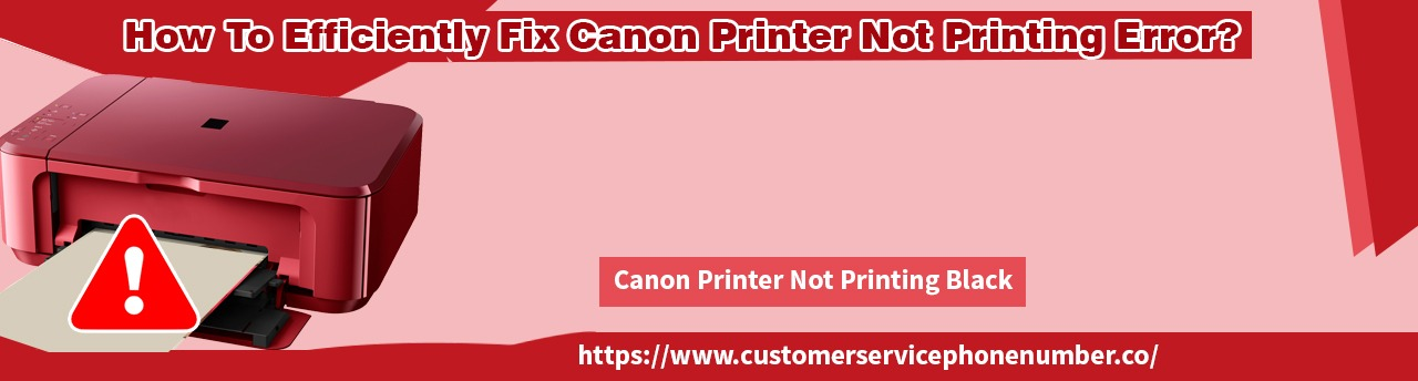How To Efficiently Fix Canon Printer Not Printing Error?